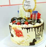 Boozed up Cake with Red Patch N20,000 10inc For him