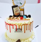 Caramel Drip Booze Cake N9000 8inc For him