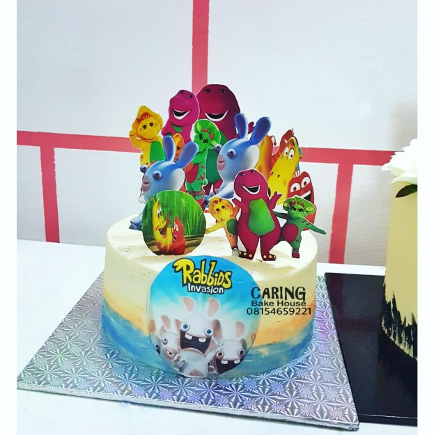 Multi-Cartoon Character Buttercream Cake N11,500 9inc